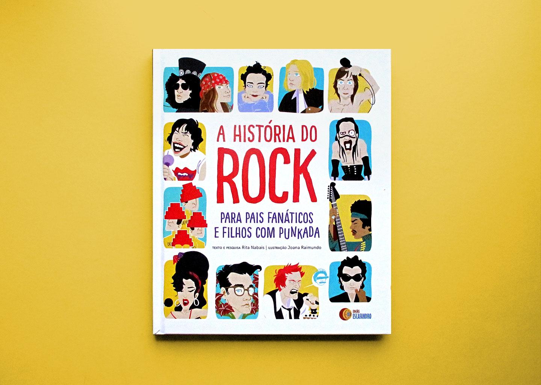 """A História do Rock (para pais fanáticos e filhos com """"punkada"""") - The book cover"""