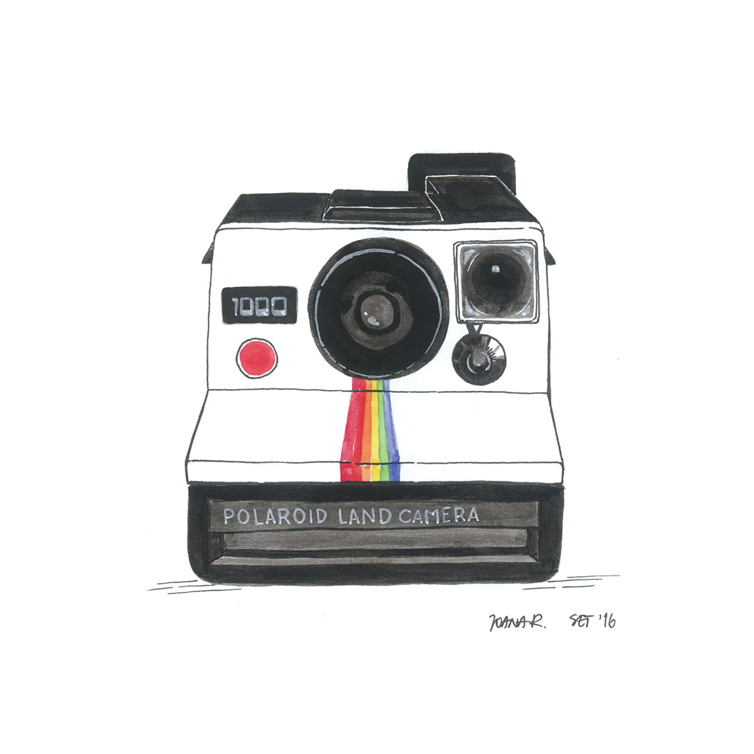 Illustrated Polaroid Land Camera 1000