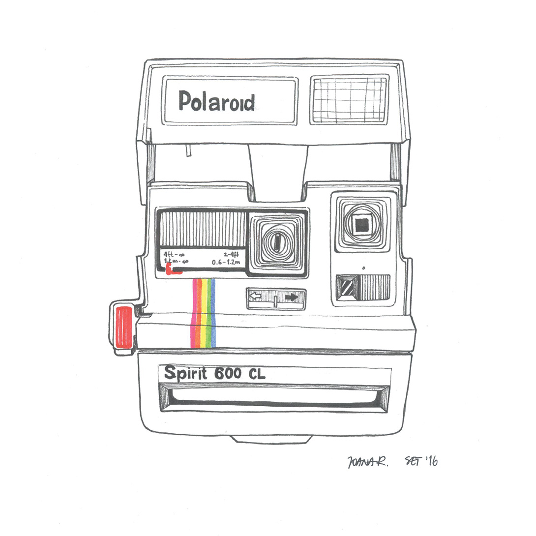 Illustrated Polaroid Spirit 600 CL