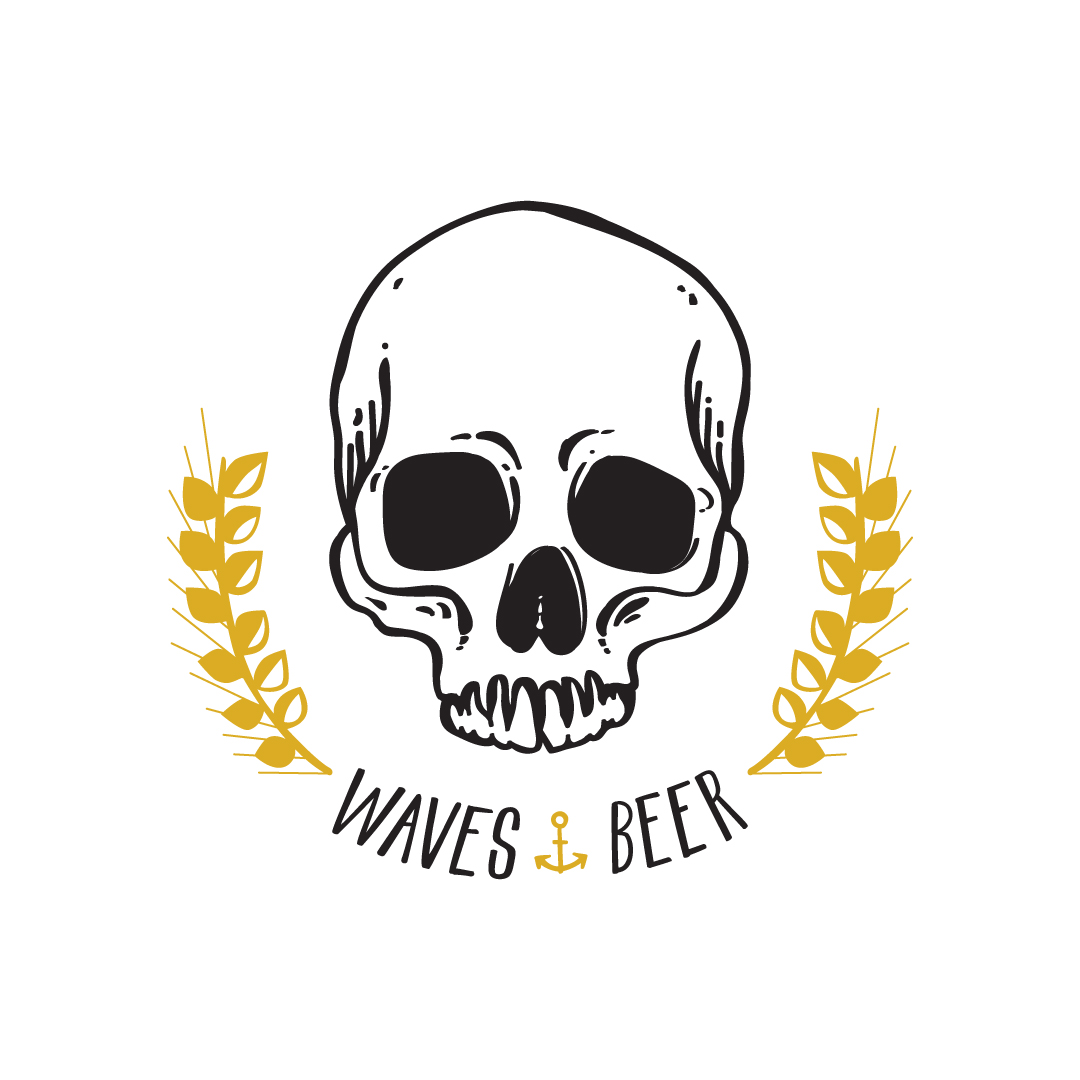 Waves and Beer Illustration
