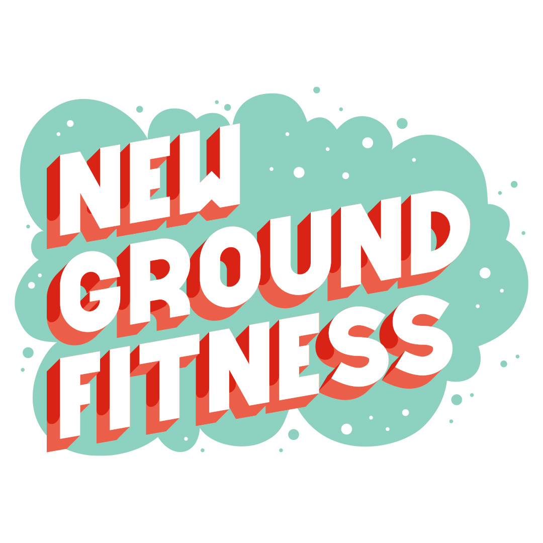 New Ground Fitness vector lettering