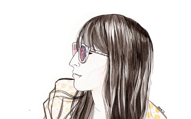 Suzinha - watercolor portrait