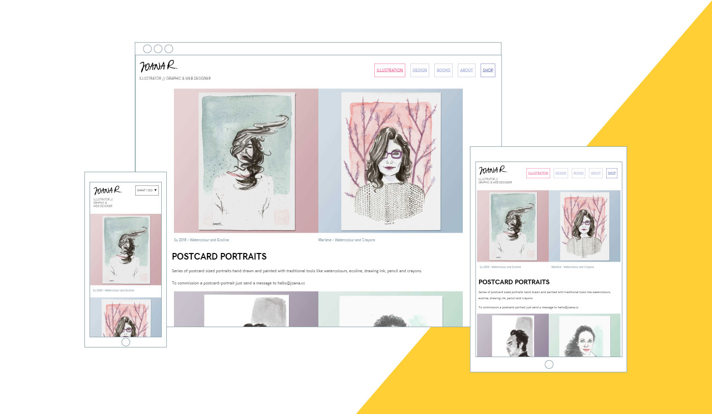 responsive website by Joana Ray