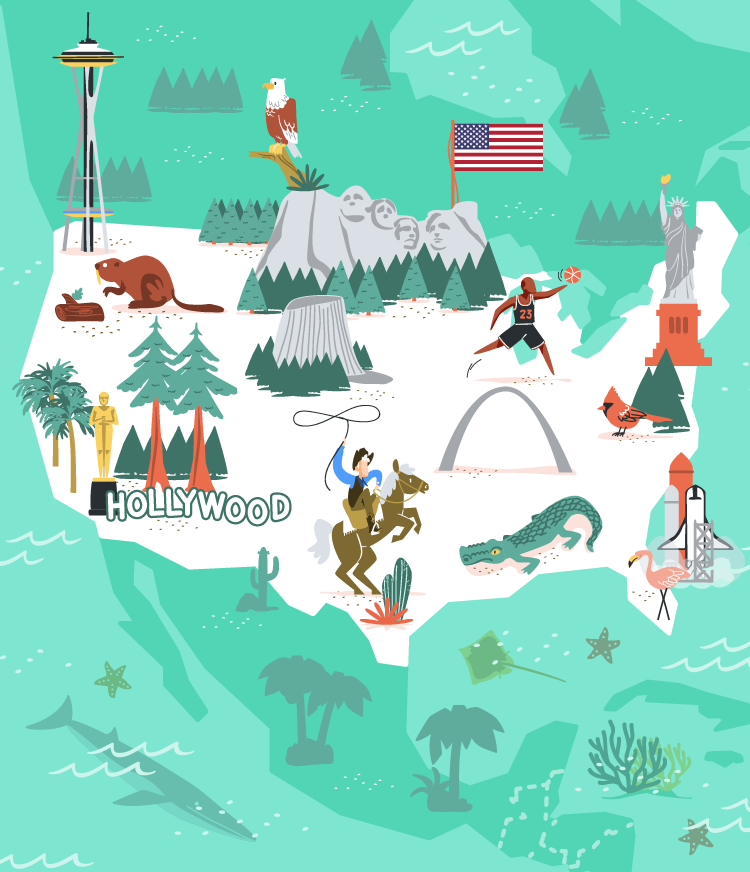 USA vector illustration for MoveSpring.