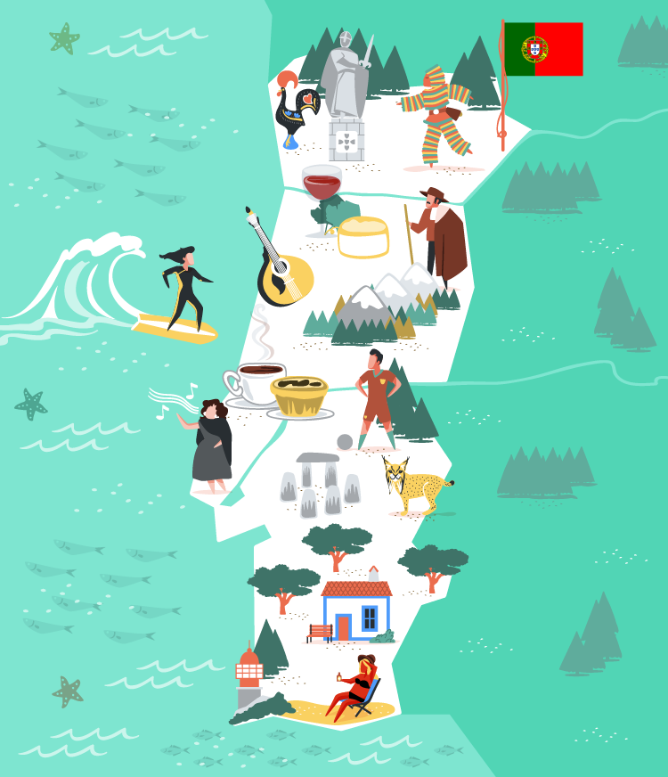 Portugal vector illustration for MoveSpring.
