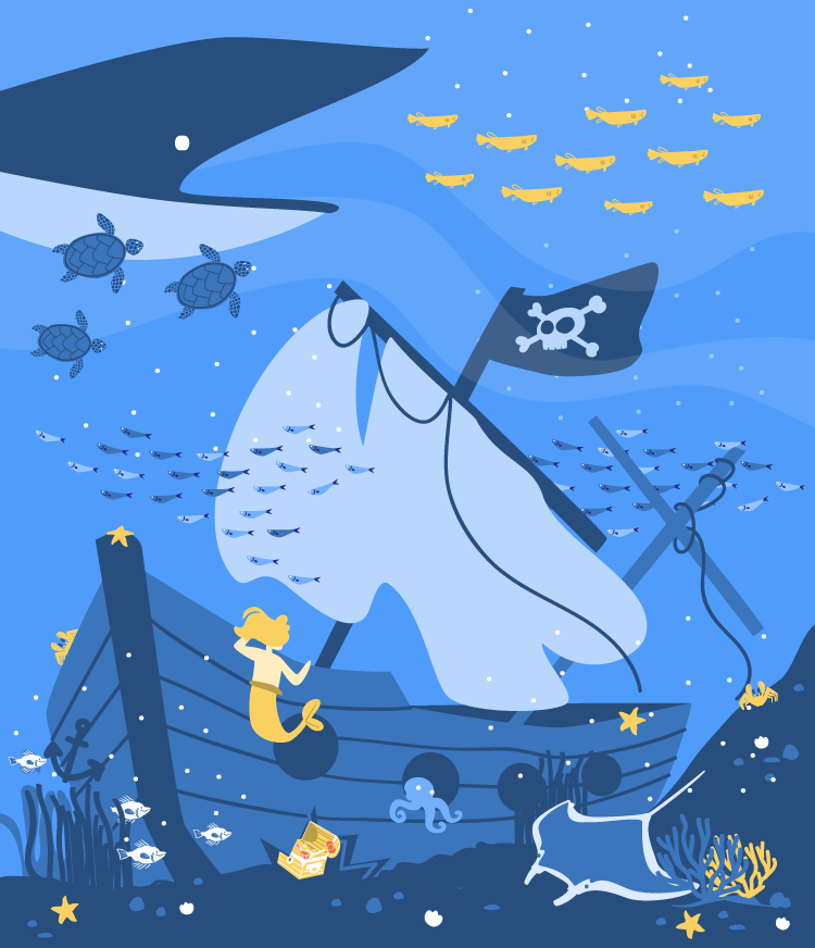 Open Sea vector illustration for MoveSpring