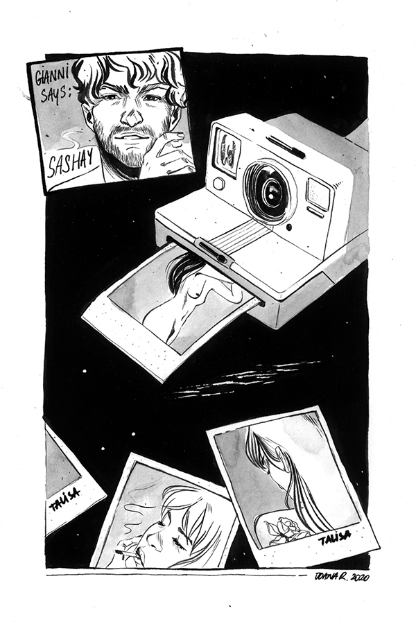 Gianni Says // drawing ink illustration // Joana Ray
