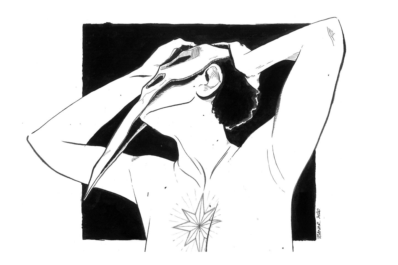 Raven // drawing ink illustration // Joana Ray